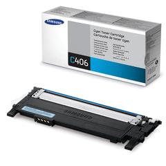 Картридж лазерный SAMSUNG (CLT-C406S) CLP-365/365W, CLX-3300/3305W и другие, оригинальный, голубой