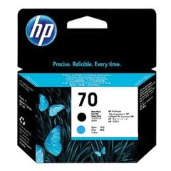 Головка печатающая для плоттера HP (C9404A) DesignJet Z2100/Z3100, №70, матовая черная и голубая, оригинальная