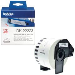 Картридж для принтеров этикеток BROTHER DK22223, 50 мм х 30,48 м, черный шрифт, белый фон, бумажный