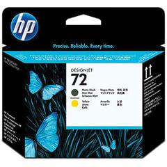Головка печатающая для плоттера HP (C9384A) Designjet T610/795/1100 и др., №72, черная матовая и желтая, оригинальня