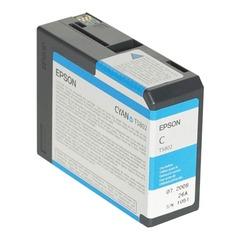 Картридж струйный для плоттера EPSON (C13T580200) Epson StylusPro 3880 и др, голубой, 80 мл, оригинальный
