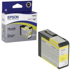 Картридж струйный для плоттера EPSON (C13T580400) Epson StylusPro 3880 и др., желтый, 80 мл, оригинальный