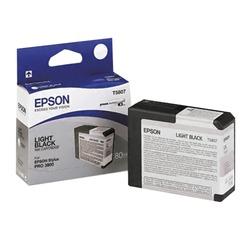Картридж струйный для плоттера EPSON (C13T580700) Epson StylusPro 3880 и др., серый, 80 мл, оригинальный