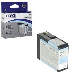 Картридж струйный для плоттера EPSON (C13T580500) Epson StylusPro 3880 и др., светло-голубой, 80 мл, оригинальный