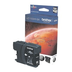 Картридж струйный BROTHER (LC1100HYBK) DCP-6690CW/MFC-5890CN/5895CW и др., черный, оригинальный, ресурс 750 стр.
