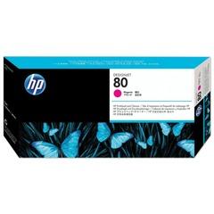 Головка печатающая для плоттера HP (C4822A) DesignJet 1050c/c plus/1055 и другие, №80, пурпурная, оригинальная