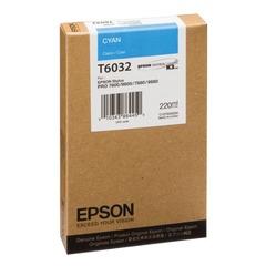 Картридж струйный для плоттера EPSON (C13T603200) Stylus Pro 7880/9880, голубой, оригинальный, 220 мл