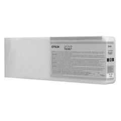Картридж струйный для плоттера EPSON (C13T636700) Stylus Pro 7890 и другие, серый, оригинальный, увеличенной емкости, 700 мл
