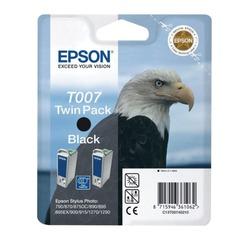 Картридж струйный EPSON (C13T00740210) Stylus Photo 790/870/915/1270 и другие, черный, комплект 2 шт., оригинальный