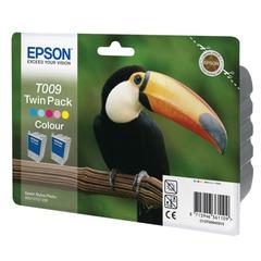 Картридж струйный EPSON (C13T00940210) Stylus Photo 900/1270/1290, цветной, оригинальный, комплект 2 шт.