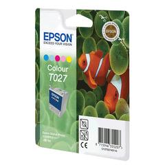 Картридж струйный EPSON (C13T02740110) Stylus Photo 810/830/925/935 и другие, цветной, оригинальный
