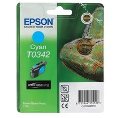 Картридж струйный EPSON (C13T03424010) Stylus Photo 2100, голубой, оригинальный