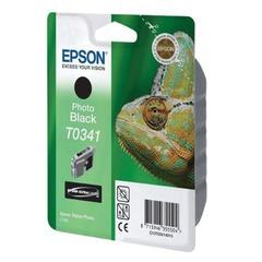 Картридж струйный EPSON (C13T03414010) Stylus Photo 2100, черный фото, оригинальный