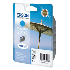 Картридж струйный EPSON (C13T04424010) Stylus C64/C66/C84/C86/CX3600/CX3650/CX6400/CX6600, голубой, оригинальный