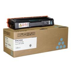 Картридж лазерный RICOH (407645) SPС220S/C221SF и другие, голубой, оригинальный, ресурс 2000 стр.