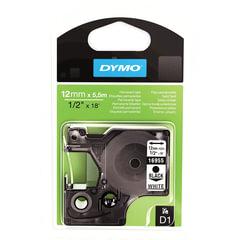 Картридж для принтеров этикеток DYMO D1, 12 мм х 5,5 м, лента полиэстерная, чёрный шрифт, белый фон