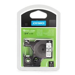 Картридж для принтеров этикеток DYMO D1, 19 мм х 3,5 м, лента нейлоновая, чёрный шрифт, белый фон, для неровных поверхностей