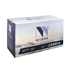 Картридж лазерный HP (CE401A) LaserJet Pro M570dn/M570dw, голубой, ресурс 6000 страниц, NV PRINT, СОВМЕСТИМЫЙ