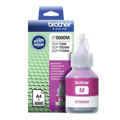 Чернила BROTHER (BT-5000М) для СНПЧ Brother DCP-T500W\T700W\T300, пурпурные, ресурс 5000 стр., оригинальные