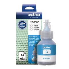 Чернила BROTHER (BT-5000С) для СНПЧ Brother DCP-T500W\T700W\T300, голубые, ресурс 5000 стр., оригинальные