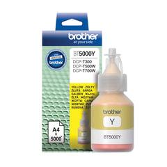 Чернила BROTHER (BT-5000Y) для СНПЧ Brother DCP-T500W\T700W\T300, желтые, ресурс 5000 стр., оригинальные