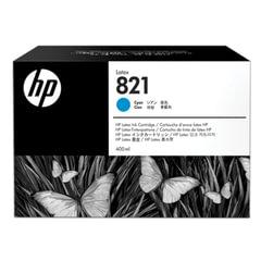 Картридж струйный HP (G0Y86A) Latex 110 Printer, №821, цвет голубой, оригинальный, объем 400 мл.