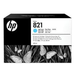 Картридж струйный HP (G0Y90A) Latex 110 Printer №821, цвет светло-голубой, оригинальный 400 мл.