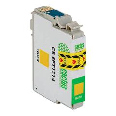 Картридж струйный EPSON (EPT1714) Expression Home XP-33/103/203/207/303, желтый, CACTUS совместимый