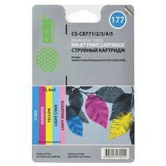 Картридж струйный HP (C8771/2/3/4/5) Photosmart C7283/8183, №177, комплект 5 цветов, CACTUS совместимый