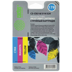 Картридж струйный HP (CB318/19/20) Photosmart C6383/D5463, №178, комплект 3 цвета, CACTUS совместимый