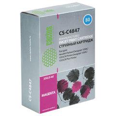 Картридж струйный HP (C4847A) DesignJet 1050C/1055CM, №80, пурпурный, CACTUS совместимый