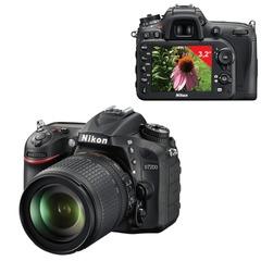 """Фотоаппарат зеркальный NIKON D7200 18-105 мм VR, 24,7 Мп, 3,2"""" ЖК-монитор, Full HD, Wi-Fi, черный"""