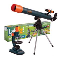 Набор LEVENHUK LabZZ MT2: микроскоп: 75-900 кратный, монокулярный + телескоп: рефрактор, 2 окуляра