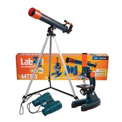 Набор LEVENHUK LabZZ MTВ3: микроскоп 150-900 кратный + телескоп, рефрактор, 2 окуляра+бинокль 6х21
