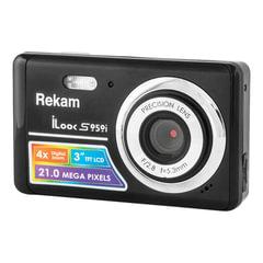 """Фотоаппарат компактный REKAM iLook S959i, 21 Мп, 4x zoom, 3"""" ЖК-дисплей, HD, черный"""