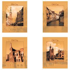 """Тетрадь 48 л. STAFF, офсет №2, 60 г/м2, клетка, обложка мелованный картон, """"Города"""" (4 вида)"""