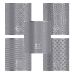 """Тетрадь 48 л., HATBER, клетка, металлизированный картон с тиснением, """"Серебряные узоры"""""""