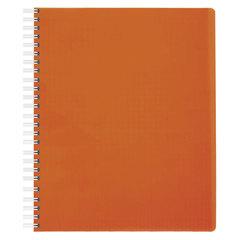 """Тетрадь 80 л., HATBER, гребень, клетка, пластиковая обложка, """"DIAMOND NEON-оранжевая"""", 80Т5B1гр 02035"""