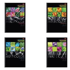 """Тетрадь 96 л., А4, HATBER, гребень, клетка, выборочный лак, """"Multicolor"""", 96Т4вмВ3гр"""