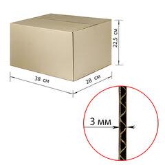 Гофроящик, длина 380 х ширина 280 х высота 225 мм, марка Т22, профиль В, FEFCO 0201 / ГОСТ, исполнение А
