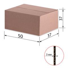 Гофроящик, длина 500 х ширина 370 х высота 370 мм, марка Т22, профиль В, FEFCO 0201 / ГОСТ, исполнение А