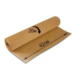Крафт-бумага для упаковки, 420 мм х 20 м, 78 г/м2, в рулоне, BRAUBERG