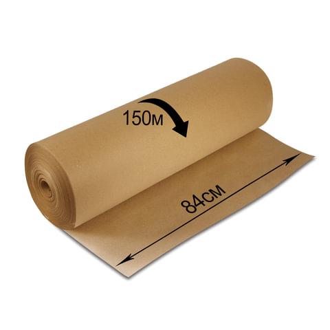 Крафт-бумага для упаковки, 840 мм х 150 м, 78 г/м2, в рулоне, BRAUBERG