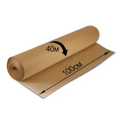 Крафт-бумага для упаковки, 1000 мм х 40 м, 78 г/м2, в рулоне, BRAUBERG