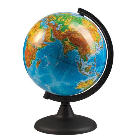 Глобус физический, диаметр 210 мм (Россия)