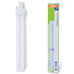 Лампа люминесцентная OSRAM DULUX S 11W/21-840, 11 Вт, U-образная, холодный белый свет, цоколь G23