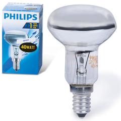 Лампа накаливания PHILIPS Spot R50 E14 30D, 40 Вт, зеркальная, колба d = 50 мм, цоколь E14, угол 30°
