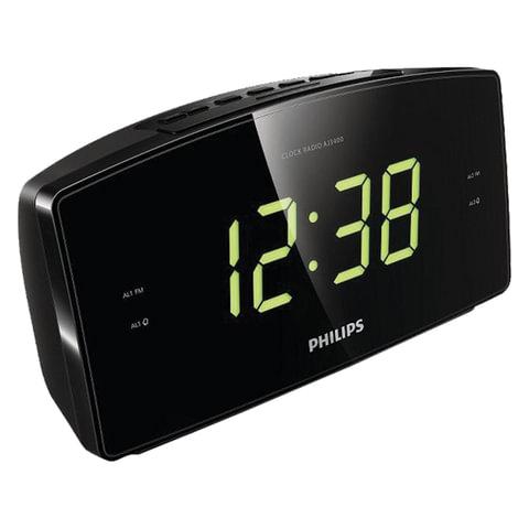 Часы-радиобудильник PHILIPS AJ3400/12, ЖК-дисплей, FM-диапазон, 2 вида сигнала, повтор, таймер