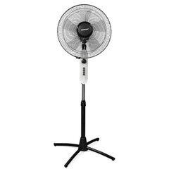 Вентилятор напольный SONNEN SFT-60W-40-01, d=40 см, 60 Вт, 3 скоростных режима, таймер, белый/серый