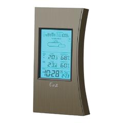Погодная метеостанция EA2 ED 608, термодатчик, часы, будильник, календарь, барометр, черная